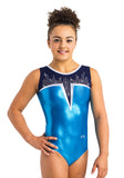 Ervy Cody Leotard (Caribbean Blue, Ink and Silver)