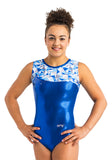 Ervy Skara Leotard (Royal Blue and Kaleidoscope)