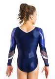 Ervy Blanca Long Sleeved Leotard (Ink and Livorno)