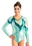 Ervy Anissa Long Sleeved Leotard (Mint and Petrol)