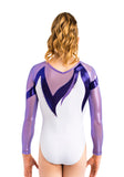 Ervy Anissa Long Sleeved Leotard (White, Lilac and Violet)