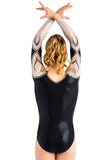 Ervy Hacel Long Sleeved Leotard (Silver, Graphite and Black)