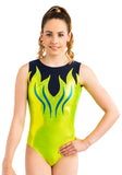 Ervy Tiba Leotard (Kiwi, Ink and Caribbean Blue)