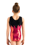 Ervy Pina Leotard (Lipstick Pink and Black)