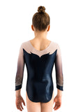 Ervy Blair 3/4 Sleeved Leotard (Ink, White and Skin)