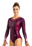 Ervy Zaina Long Sleeved Leotard (Dark Amethyst and Altrosa)