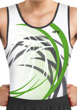 Ervy Ian Leotard (White, Green and Graphite) Front Design