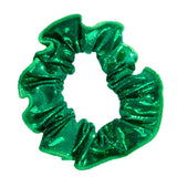 Ervy Classic Lack Shine Hair Scrunchie (Green)