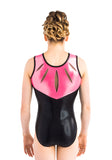 Ervy Kenzie Leotard (Black and Neon Pink)