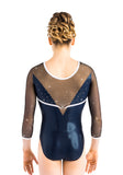 Ervy Nigue 3/4 Sleeved Leotard (Ink, Black, White and Skin)