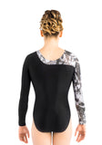 Ervy Vesna Long Sleeved Leotard (Black, Silver and Skin)