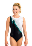 Ervy Fenne Leotard (Black, White and Petrol)