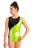 Ervy Idril Leotard (Kiwi, Silver and Black)