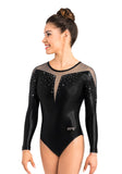 Ervy Liv Long Sleeved Leotard (Black, Graphite and Skin)