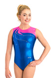 Ervy Mira Leotard (Royal Blue and Neon Pink)