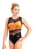 Ervy Ophelia Leotard (Black, Copper and Skin)