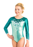 Ervy Quincy 3/4 Sleeved Leotard (Mint, Petrol and White)
