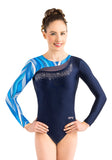 Ervy Vesna Long Sleeved Leotard (Ink, Aqua and Skin)