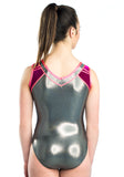 Ervy Addison Leotard (Graphite, Blackberry and Lipstick Pink)