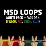 MSD Resistance Training Loops (Yellow, Red, Green, Blue)