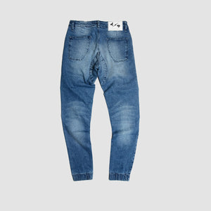 Jogger Denim Washed Slimfit Brodo x Adityology Blue