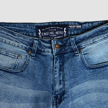 Load image into Gallery viewer, Jogger Denim Washed Slimfit Brodo x Adityology Blue