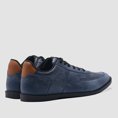 Base Signature Crack Leather Blue BS