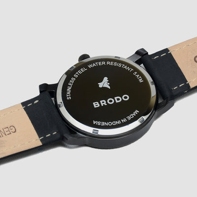 Brodo Tempo Alu Leather 43mm Black