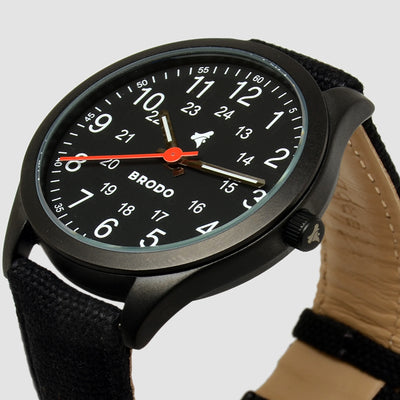Brodo Tempo Alu Canvas Black