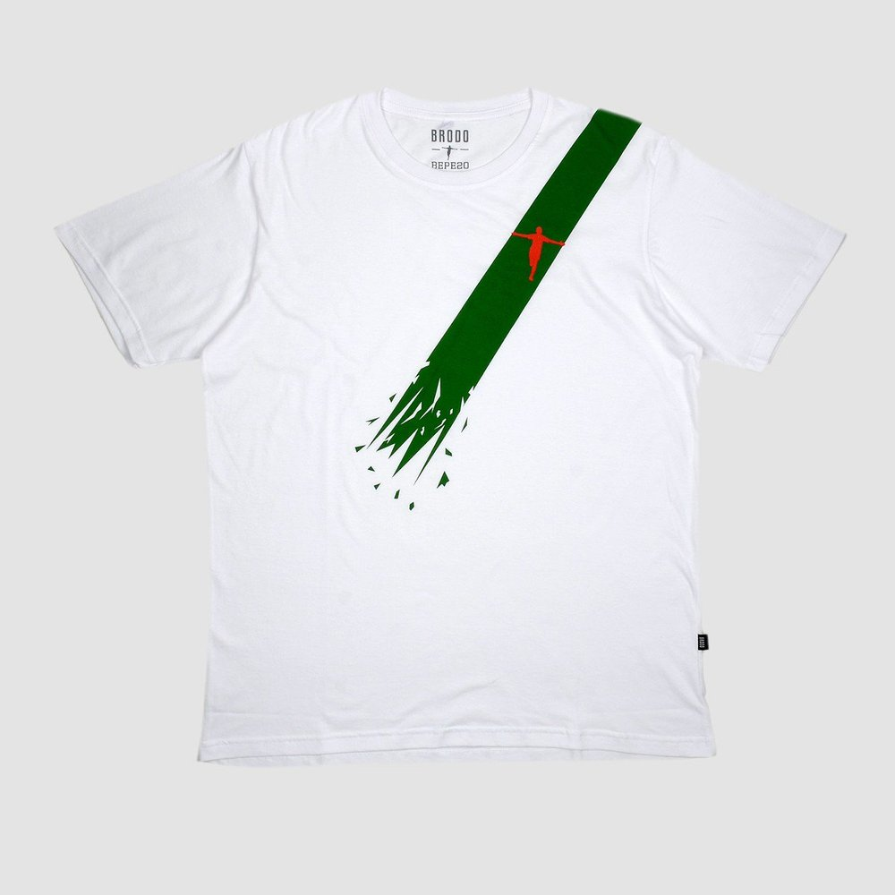 Bepe Diagonal Line T-Shirt White