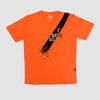 Bepe Diagonal Line T-Shirt Orange
