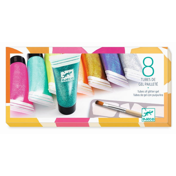 Djeco 8 Tubes Glitter Of Gel