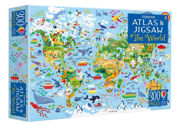 Atlas of the world puzzle
