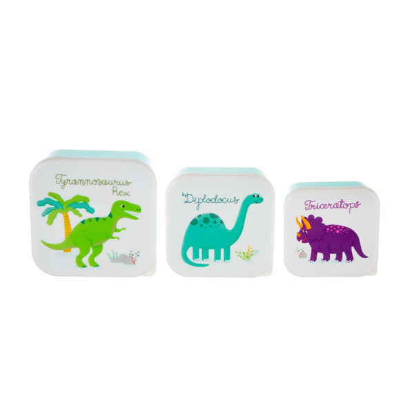 Sass & Belle 3 Roarsome Dinosaurs Lunch Boxes 3 Pcs