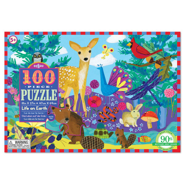 100 Piece Puzzle Life on Earth