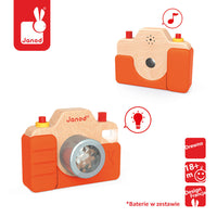 Janod Wooden Camera With Sound