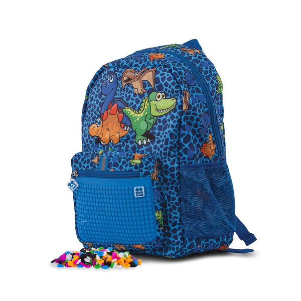Pixie Crew Backpack Dinosaurs Blue