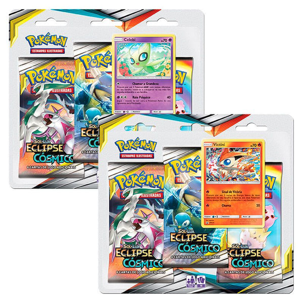 Pokemon Cosmic Eclipse 3 Booster Packs Blister