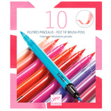 Djeco 10 Felt Tip Brush Pens: Pinks