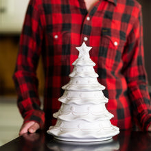Load image into Gallery viewer, Berry & Thread Whitewash - Christmas Tree Cookie Jar