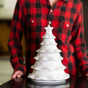 Berry & Thread Whitewash - Christmas Tree Cookie Jar