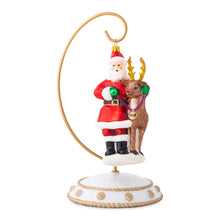 Load image into Gallery viewer, Country Estates Santa & Rudolph MVP Glass Ornament