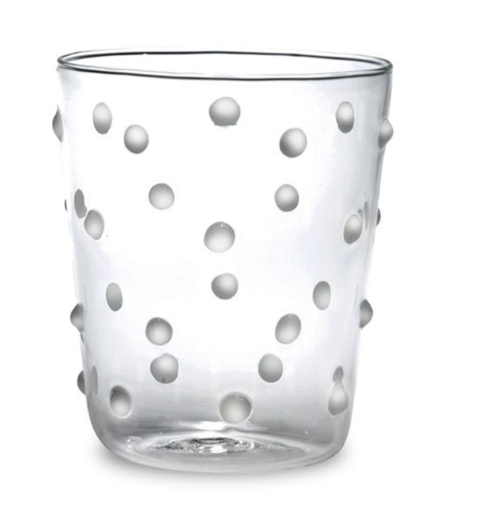 Mini Dot Tumbler White Dots