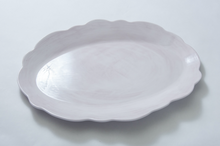 Load image into Gallery viewer, Scallop Serving Oval Tray Taupe