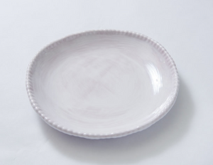 Beaded Salad Plate White