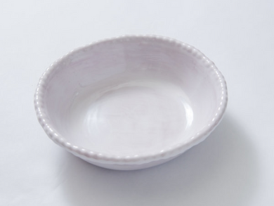 Beaded Soup/Cereal Bowl White