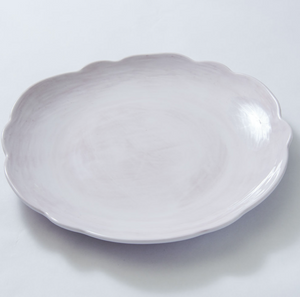 Scallop Dinner Plate White