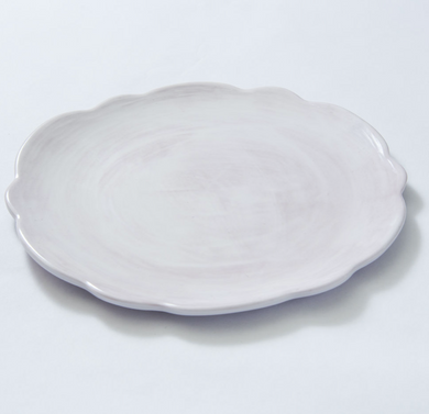 Scallop Salad Plate White