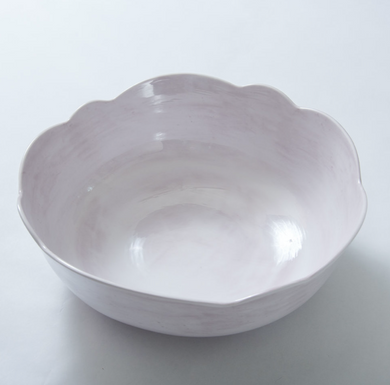 Scallop Serving Bowl White