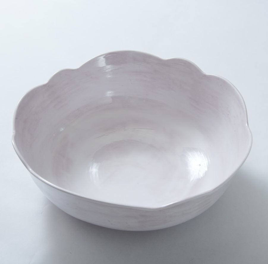 Scallop Serving Bowl Grey